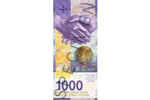 New look for the Swiss Franc 1000 bank note